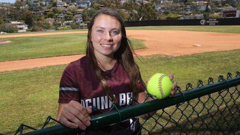 Daily Pilot High School Female Athlete of the Week Emily Thomas .