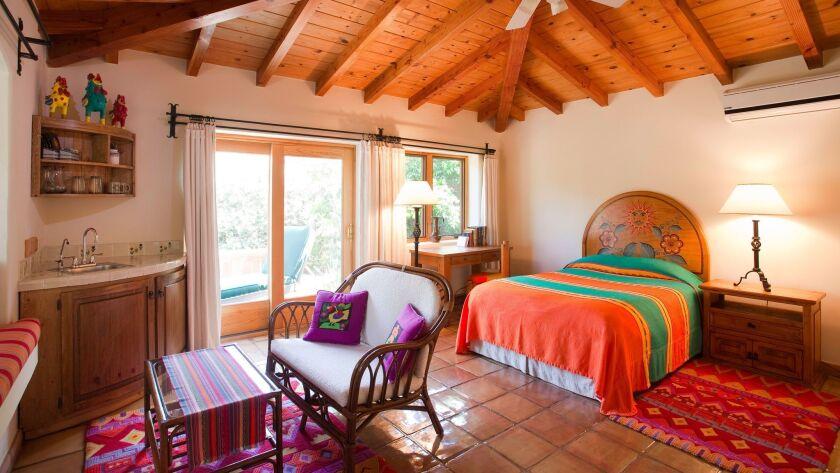 A room at Rancho La Puerta.