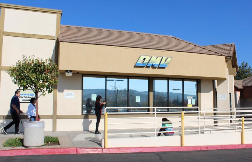 The Poway DMV office.