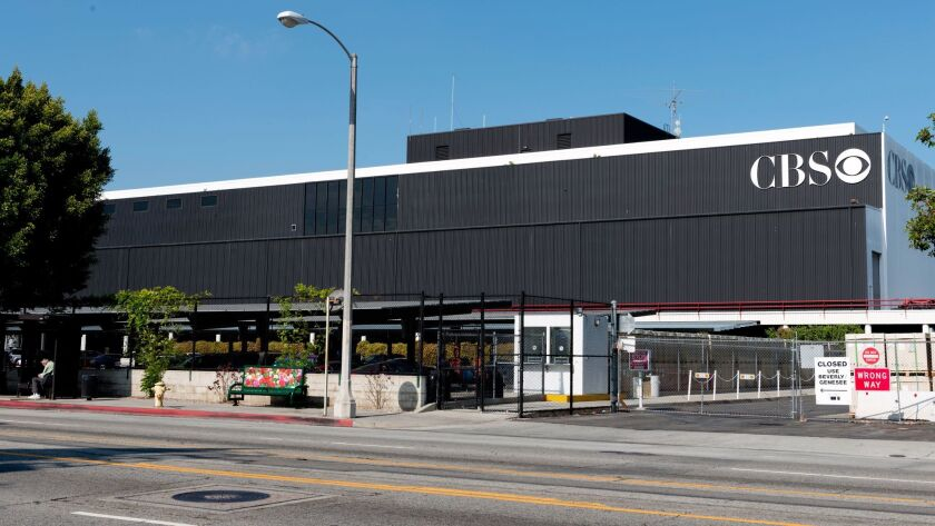 CBS Television City television studio complex located at 7800 Beverly Boulevard, at the corner of No