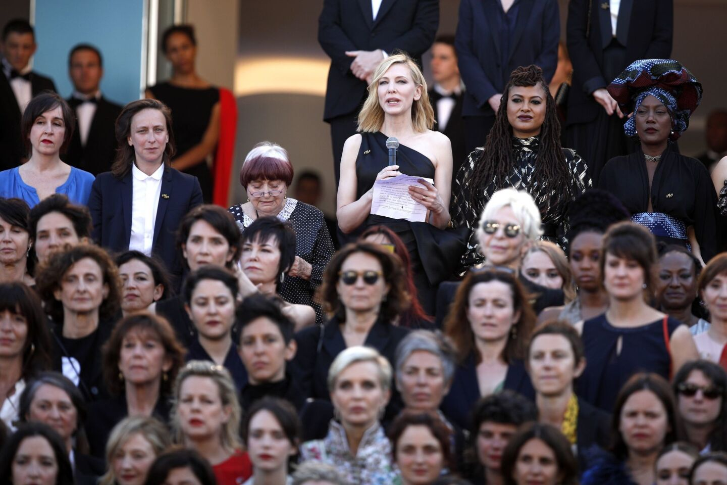 Women's march at Cannes