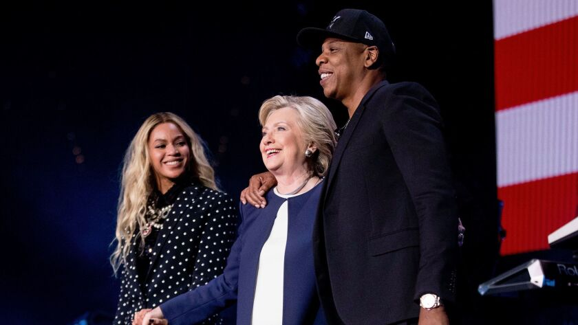 Beyoncé and Jay Z performed at a rally for Hillary Clinton.