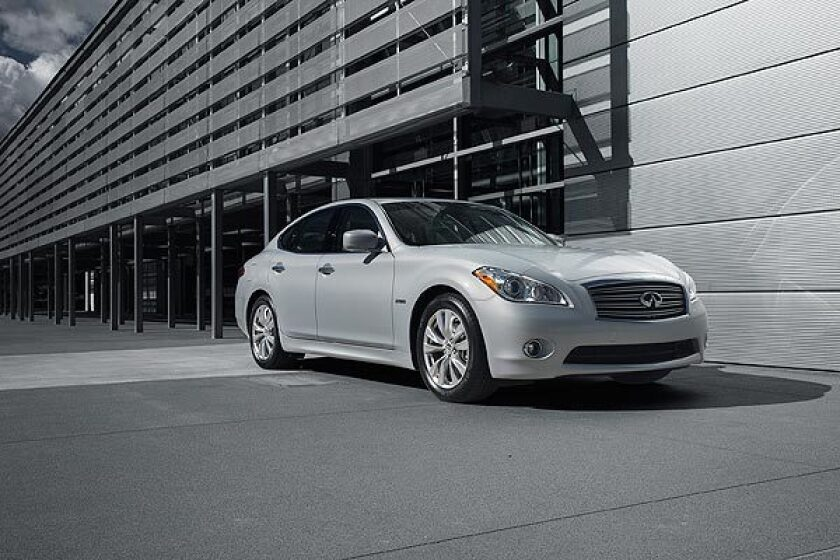 Starting at $54,595, the 2012 Infiniti M Hybrid costs $6,000 more than the V-6 version of Infiniti's M37 -- the car the M Hybrid is based upon. In hybrid form, the mid-size sport sedan is the first car to achieve 360 horsepower and an EPA fuel economy rating of 32 miles per gallon on the highway. See full story