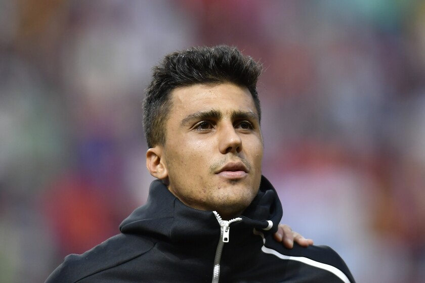 Rodri and his Manchester City teammates are looking for their first trophy of 2020 during Champions League play.