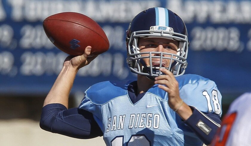 USD quarterback Anthony Lawrence is healthy after breaking his leg in the final game of last season.