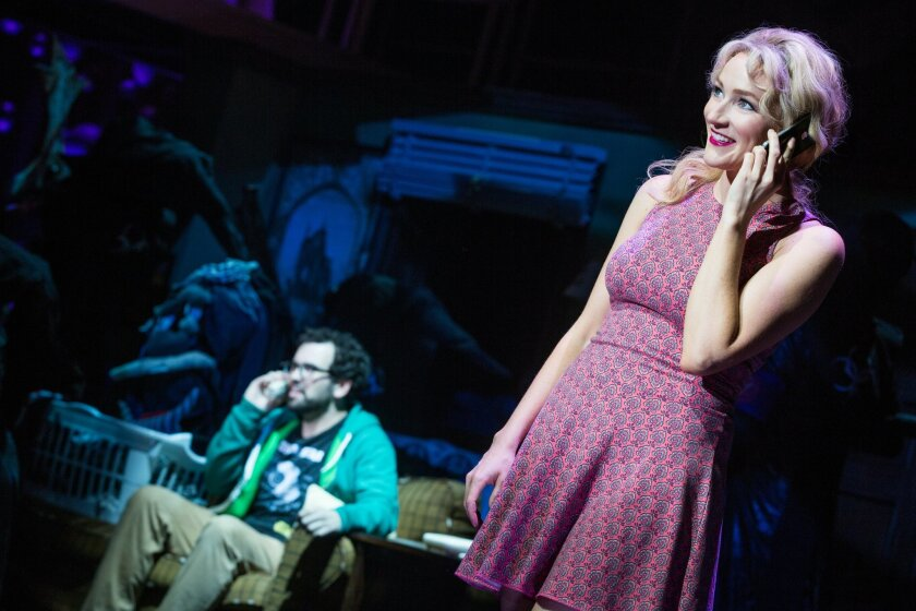 Matt Bittner and Betsy Wolfe in La Jolla Playhouse's world-premiere musical 'Up Here.'