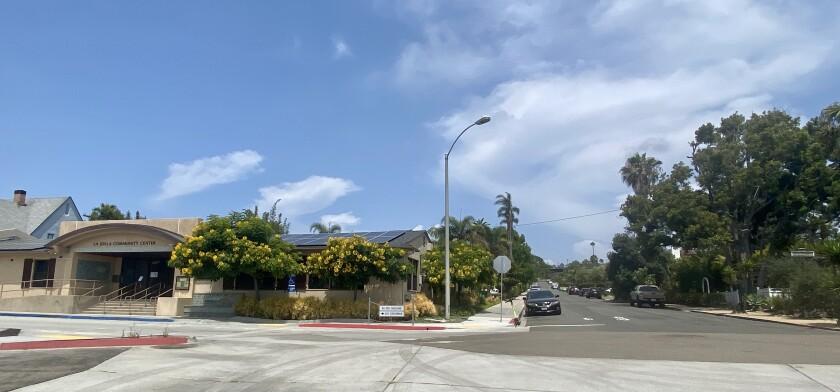 Bonair Street, adjacent to the La Jolla Community Center