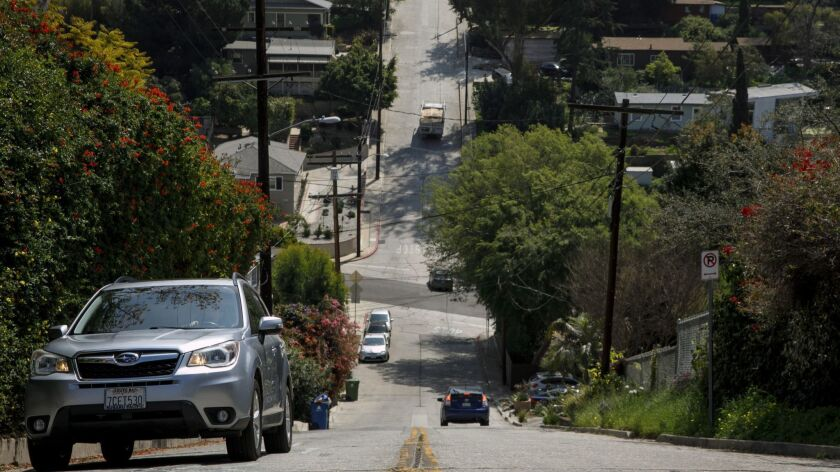 L.A. transportation officials have announced safety measures for Baxter Street, one of the city's steepest roads.