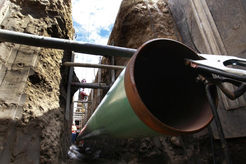 A natural gas pipeline gets inspected and upgraded by crews from San Diego Gas & Electric.