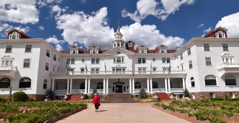 """The Stanley Hotel, opened in 1909, is known for its architecture, its setting and its effect upon author Stephen King. After a stay there, he wrote """"The Shining."""" The hotel stands in Estes Park, just outside Rocky Mountain National Park."""