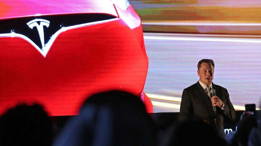 """Tesla CEO Elon Musk tweeted Aug. 7 that he had """"funding secured"""" to take the company private at $420 a share."""