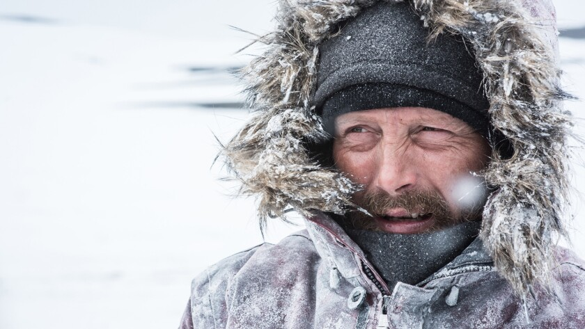 """Mads Mikkelsen in the movie """"Arctic."""""""