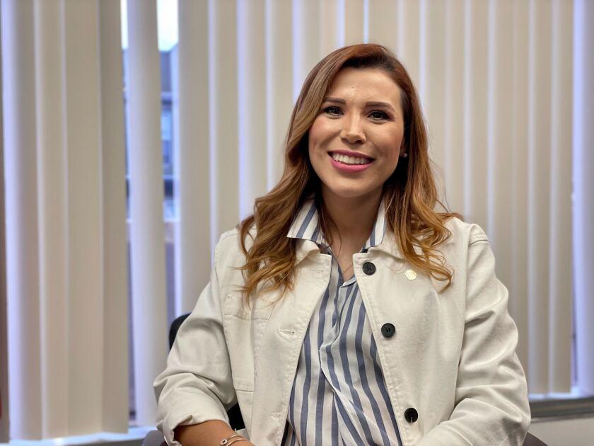 Gobernadora electa de Baja California, Marina del Pilar Ávila en entrevista en el Consulado de México en San Diego