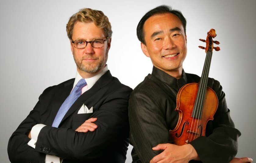 La Jolla Music Society president/artistic director Christopher Beach and SummerFest music director Cho-Liang Lin