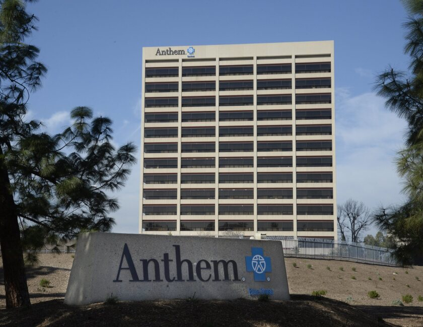 Anthem Blue Cross' office building in Woodland Hills.
