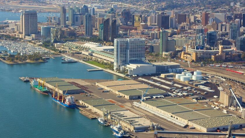 The 10th Avenue Marine Terminal's transit sheds at the water's edge would be demolished in the first phase of the port's new terminal plan.