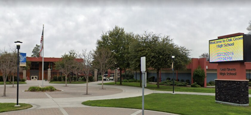 A bomb was found on the campus of Oak Grove High School in San Jose on Tuesday.