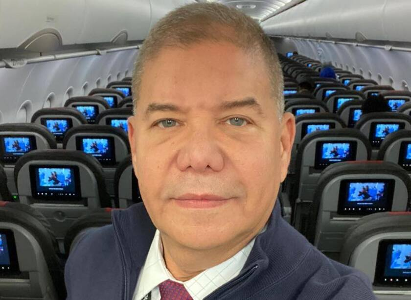 Flight attendant Jorge Merelles was exposed to COVID-19 on a flight from Rio de Janeiro to Miami on March 15. He later was hospitalized and tested positive for the virus.