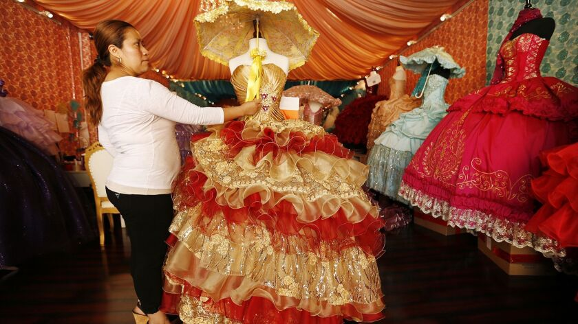 A Quinceanera shop on South Broadway in downtown Los Angeles.