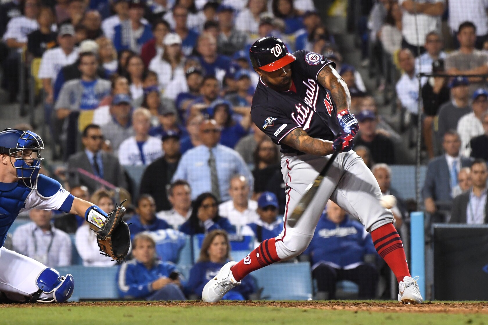 Column: Dodgers' collapse against Nationals extends their October nightmare