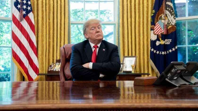 President Trump in the Oval Office in October 2018.