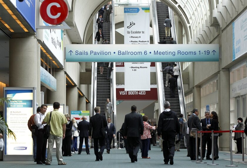 The American Urological Association, which came to San Diego for its annual convention, is among the larger meetings that the city attracts.