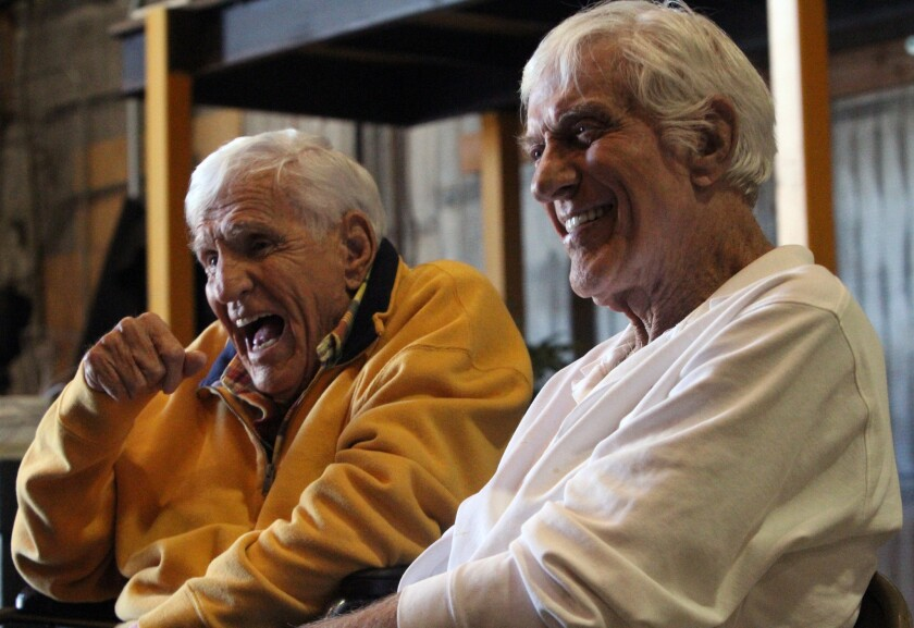 "Dick Van Dyke and his younger brother Jerry Van Dyke talk about their new ABC comedy series ""The Middle."""