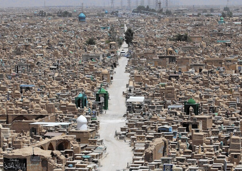 Valley of Peace cemetery in Najaf, Iraq