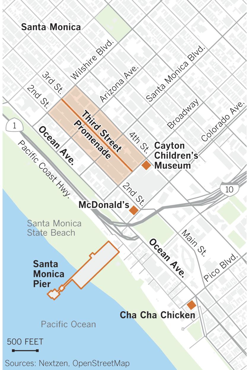 Map of Santa Monica, Cayton Children's Museum.