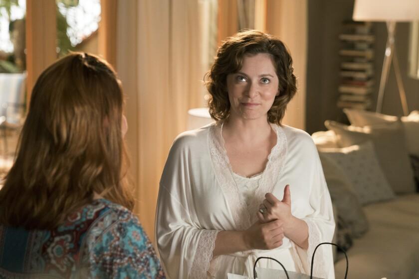 "Donna Lynne Champlin, left, is Paula, and Rachel Bloom is Rebecca in the season finale of ""Crazy Ex-Girlfriend."""