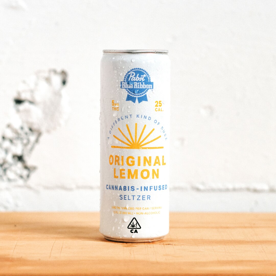 Pabst Blue Ribbon Cannabis Infused Seltzer from Pabst Labs.