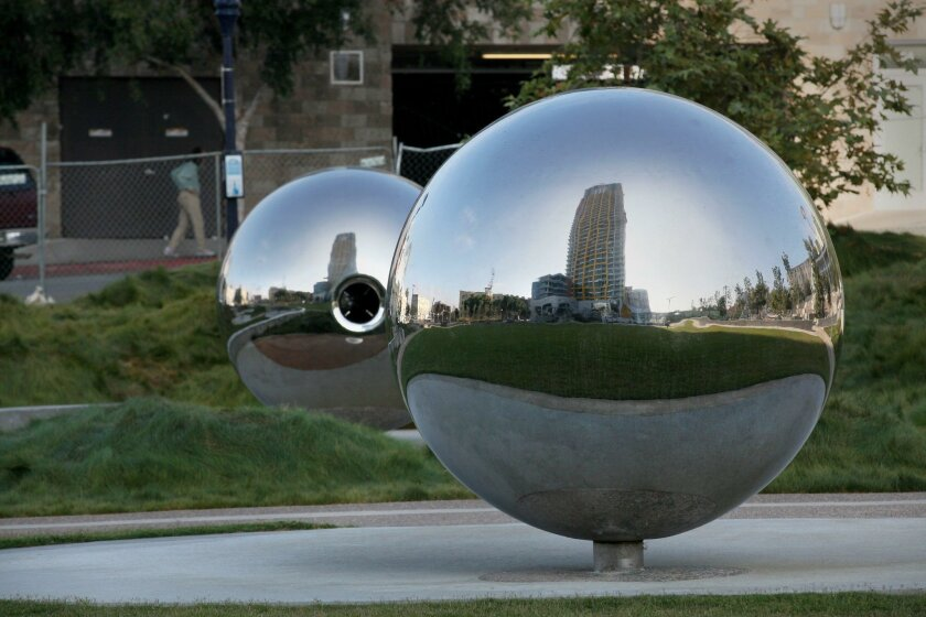 """""""Fault Whisper"""" in Fault Line Park has won a commendation from the national organization Americans for the Arts."""