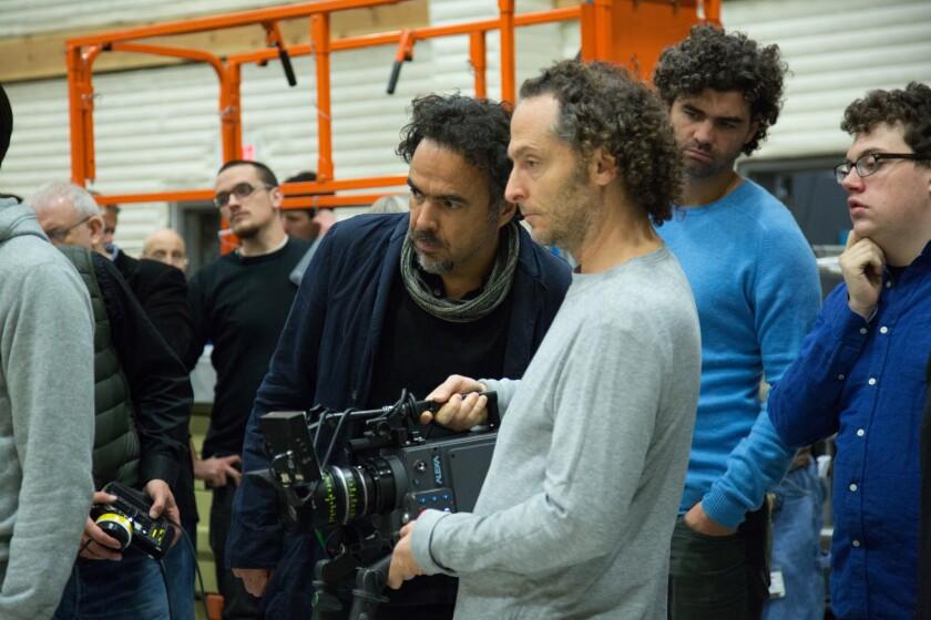 Cinematographer Emmanuel Lubezki and Director Alejandro Gonzalez Inarritu
