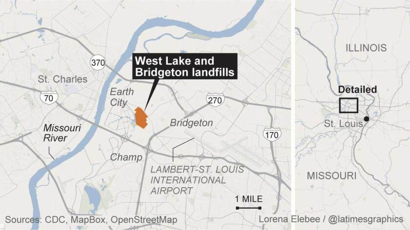 West Lake and Bridgeton landfills, Missouri