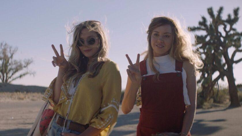 "Elizabeth Olsen and Aubrey Plaza in ""Ingrid Goes West."""