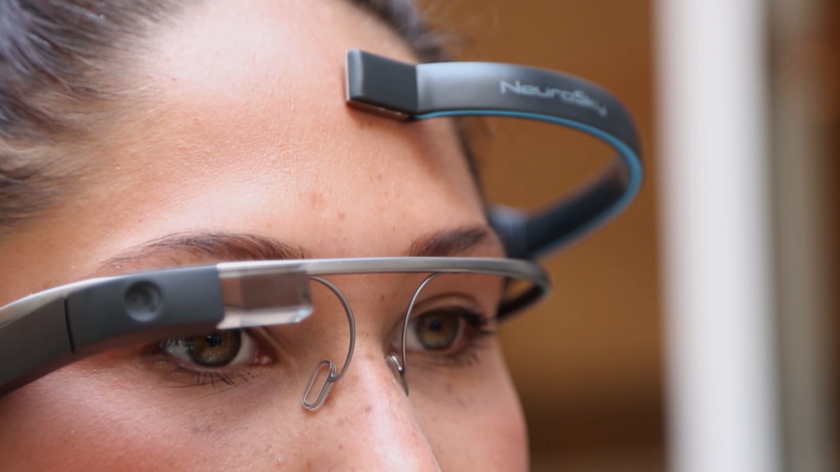 A London software firm has developed MindRDR, an app that allows Google Glass to connect to a biosensor capable of detecting brain waves.