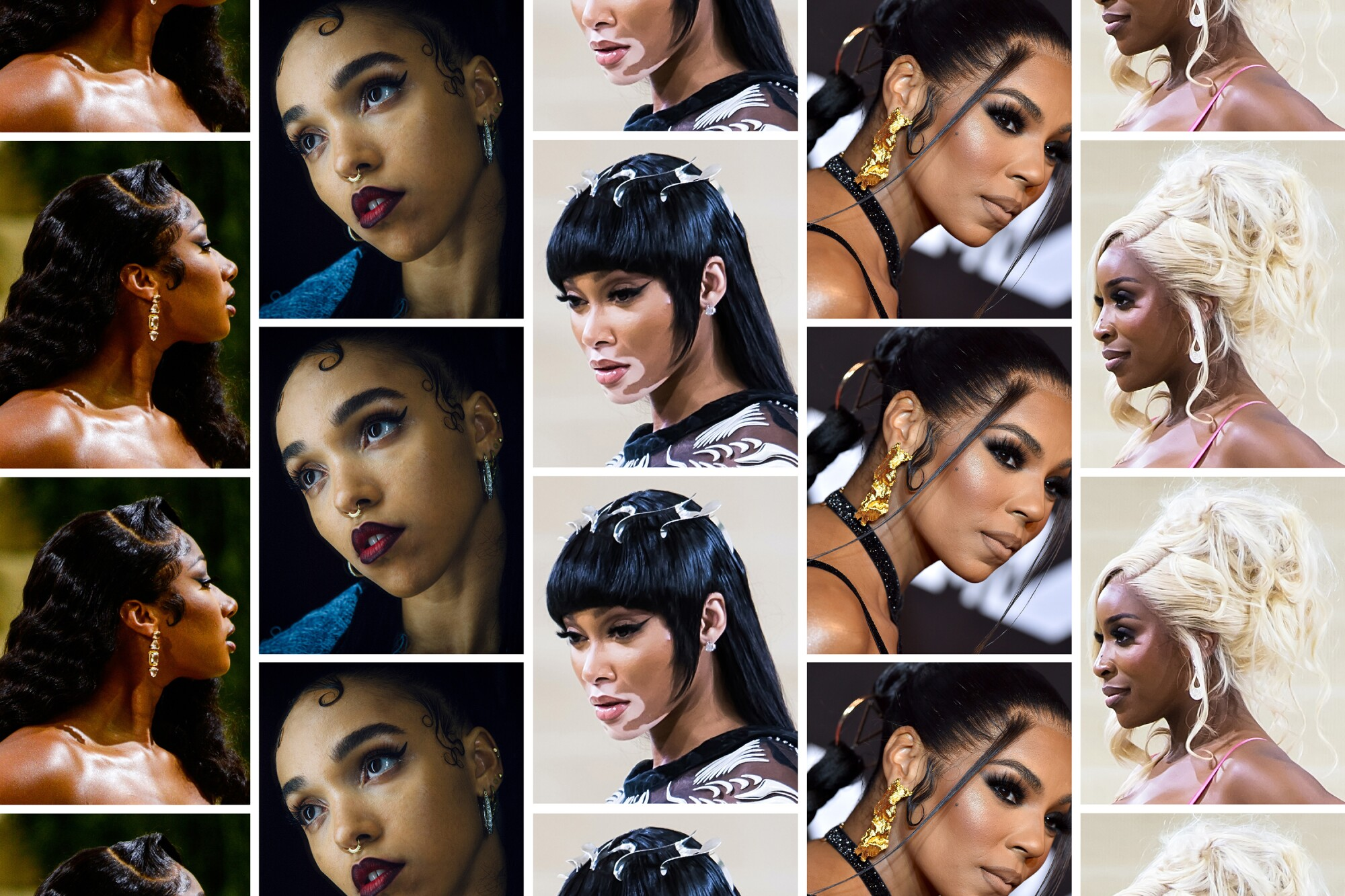 Grid of sideburn images for Image Magazine Issue 05