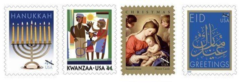 Christmas Kwanzaa Hanukkah Eid Stamps Available The San