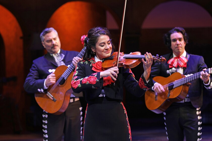 Review: Young women shatter barriers with a joyous blast of music in 'American Mariachi'