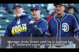 Padres fire hitting coach Alan Zinter