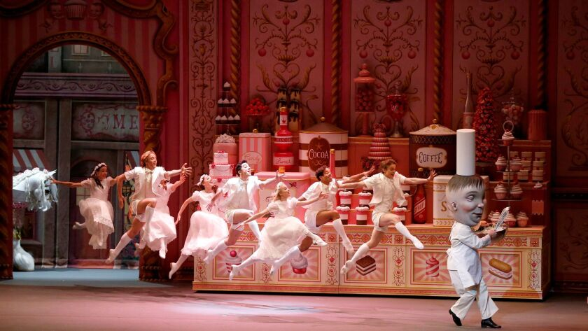"Alexei Agoudine is the chef in American Ballet Theatre's world premiere of ""Whipped Cream,"" with choreography by Alexei Ratmansky and sets and costumes by Mark Ryden, at Segerstrom in Costa Mesa."