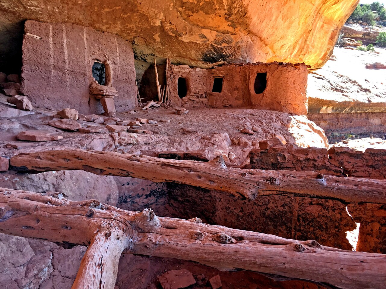 Moon House was a compound built by the Anasazi on Cedar Mesa in what is now Utah. It is one of the largest concentrations of pre-Columbian ruins in the U.S.