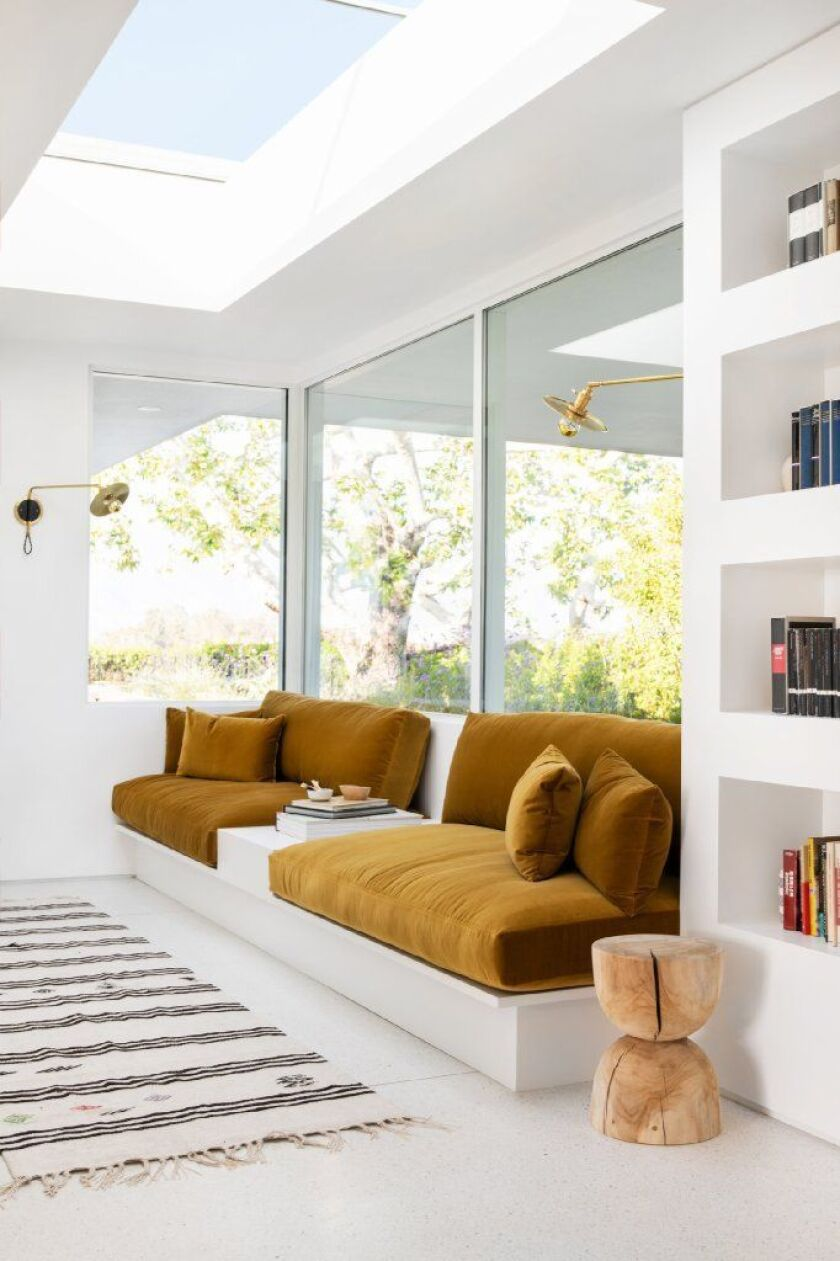 A skylight in the home of actress Mandy Moore. An old, unattractive model was replaced for $2,700, including installation.