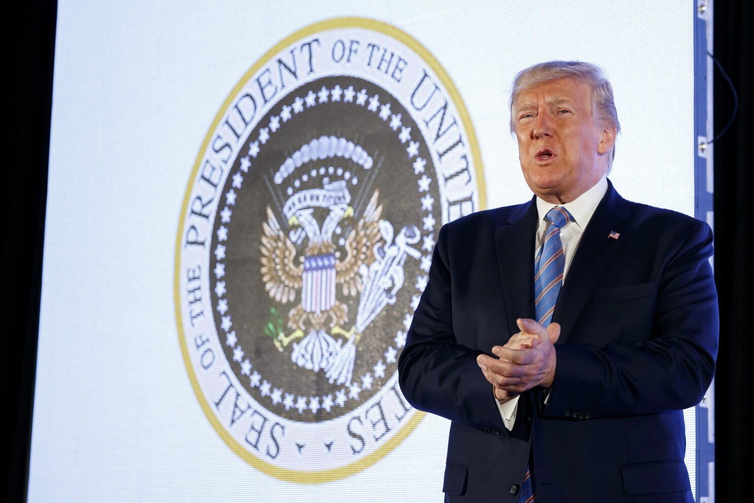 The man behind the fake presidential seal mocking Trump has been revealed