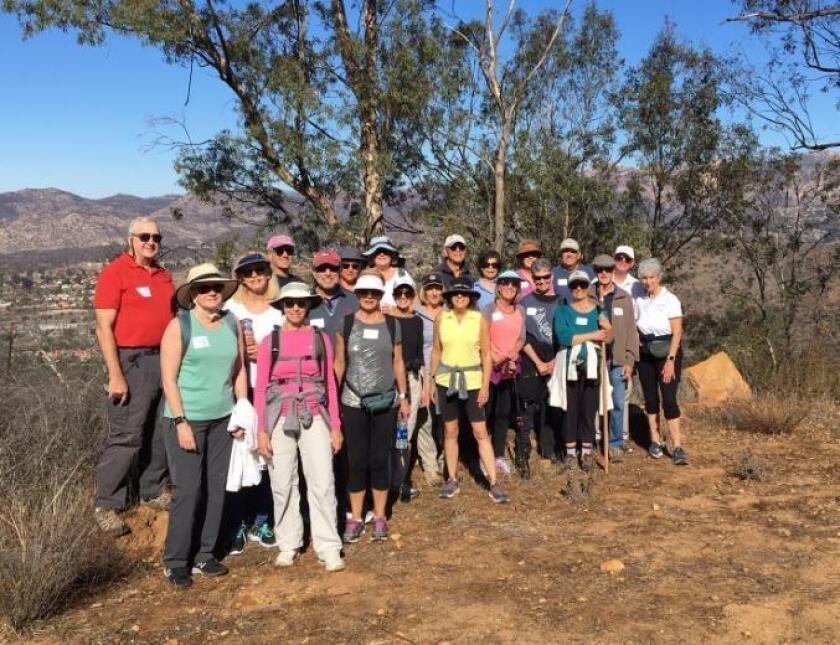 Club members hiking Crestridge Ecological Reserve