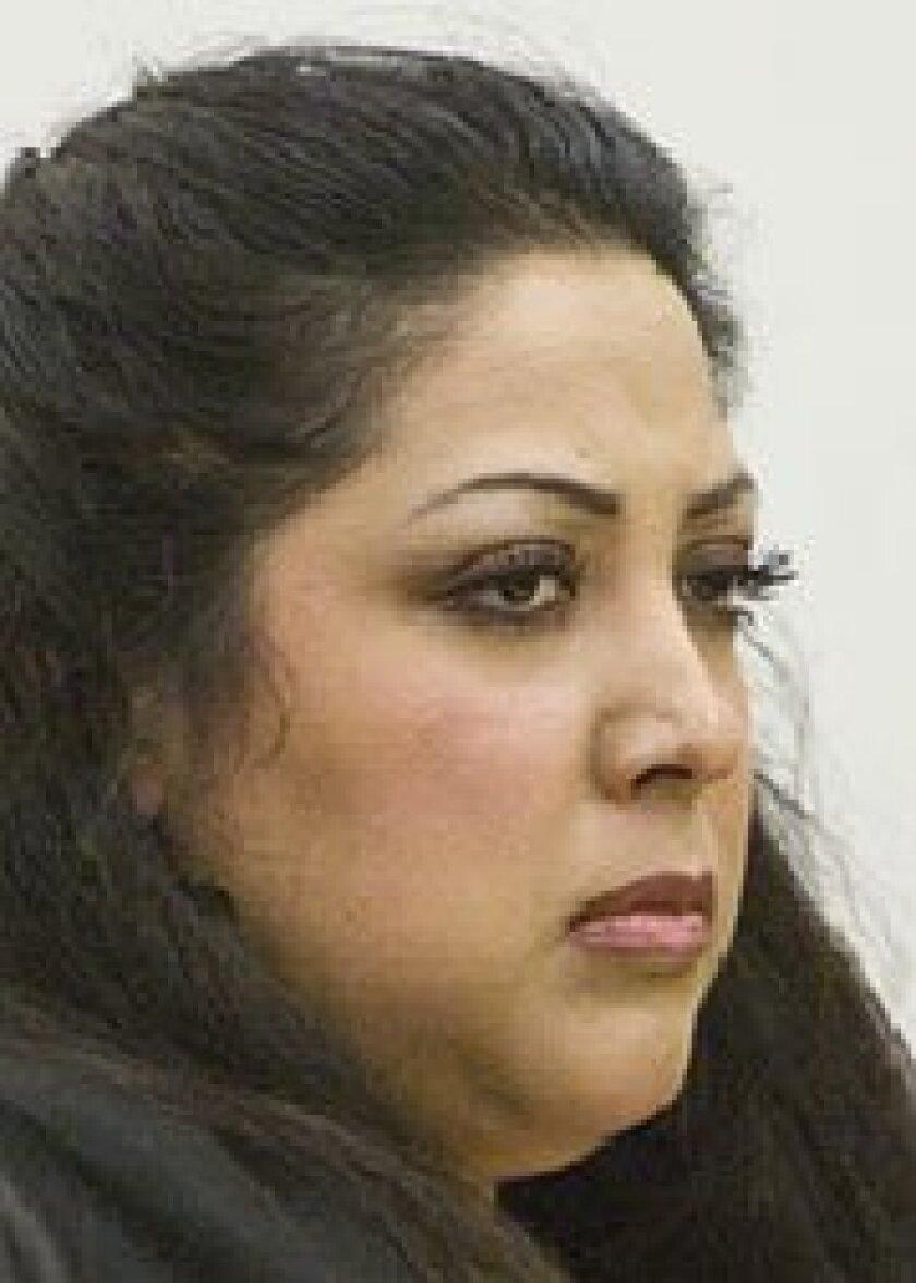Carmina Erica Lopez at a hearing in May 2009. (Earnie Grafton /  Union-Tribune)