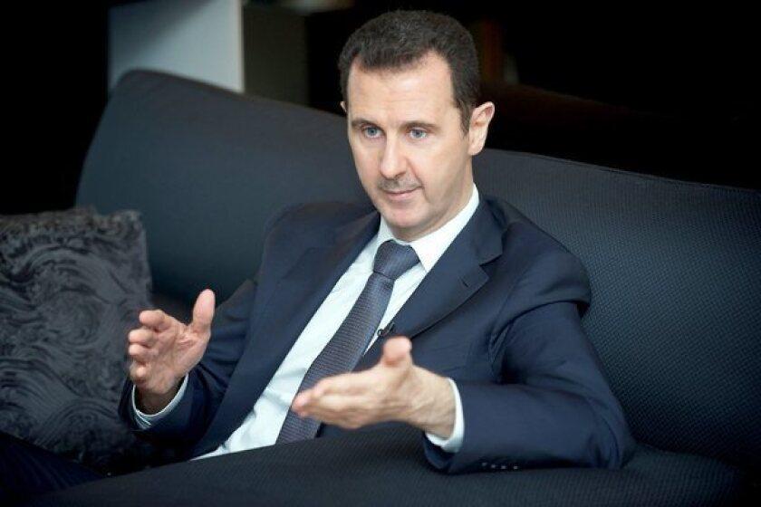 Syria's Assad warns of a 'powder keg' sparking a 'regional war'