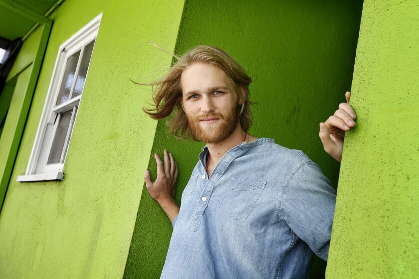 Wyatt Russell, an actor who is the son of Kurt Russell and Goldie Hawn, at Patrick's Roadhouse in Santa Monica.