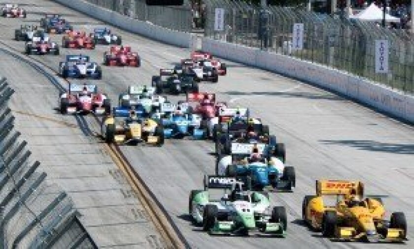 Start of the IndyCar race
