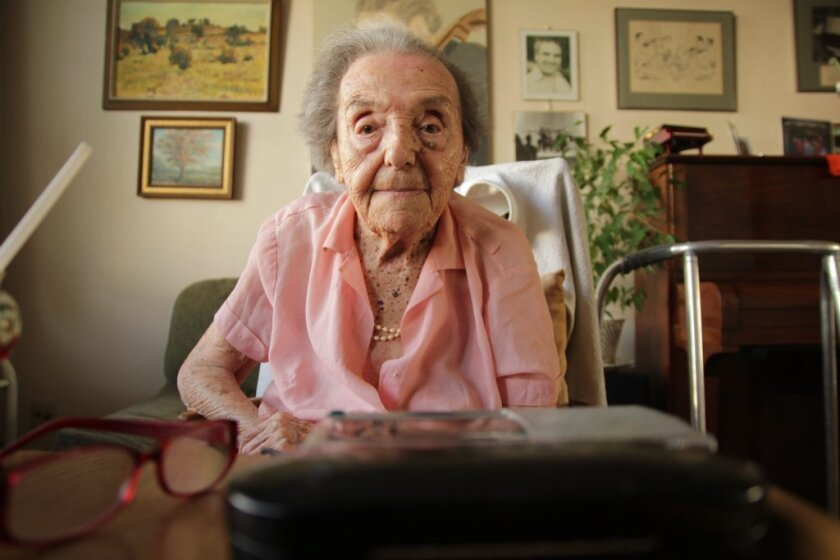 """Holocaust survivor and pianist Alice Herz-Sommer in a scene of the Oscar nominated documentary film """"Lady in Number 6: How Music Saved My Life."""""""